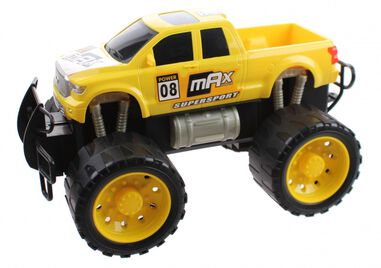 Gearbox monstertruck Friction Power jongens 29,5 cm geel