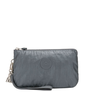 Kipling Creativity BP XL Clutch steel grey metal