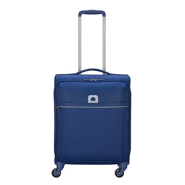 Delsey Brochant 4 Wheels Slim Cabin Trolley 55 blue
