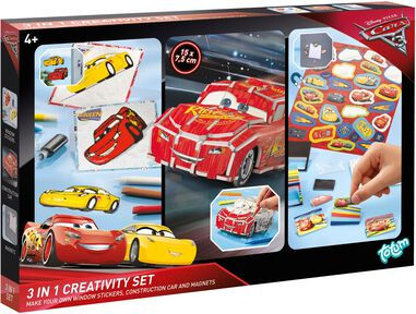 Creativity Set Cars 3 ToTum 3 in 1