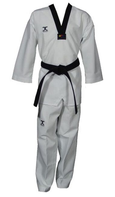 taekwondopak Club junior wit/zwart maat 1