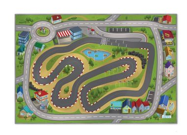 Speelkleed city racing - Speed Way 100 x 150 cm