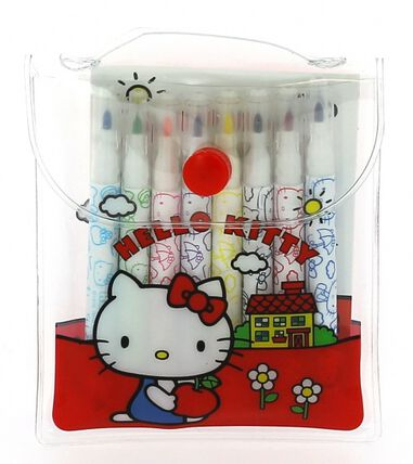 Blueprint Collections kleurset Hello Kitty rood 7 x 9,5 cm 2-delig