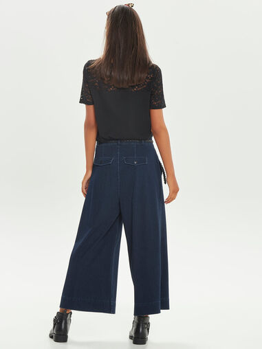 Only Cropped jeans Wijde
