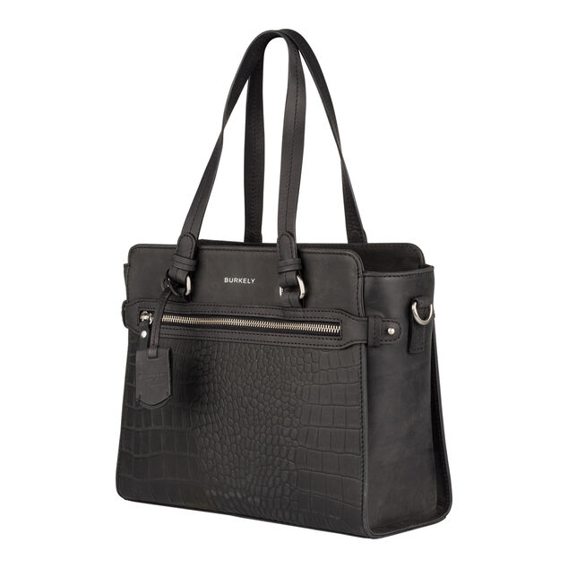 Burkely Croco Cody Handbag S black