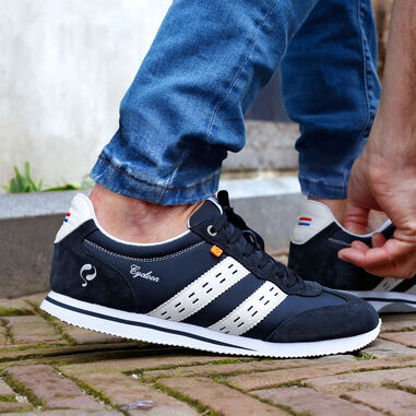 Q1905 Sneaker cycloon donkerblauw/wit