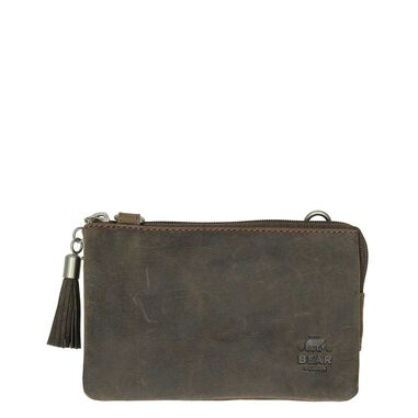 Bear Design Dark Nature Clutch brown