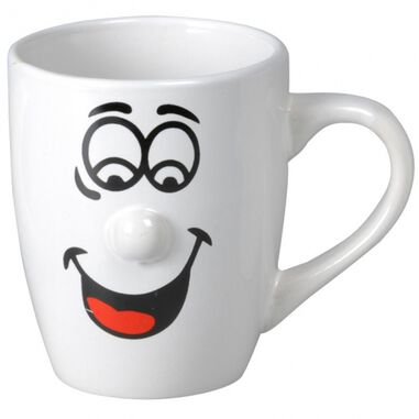Koffiemokken/bekers Smiley model 3 van 300 ml