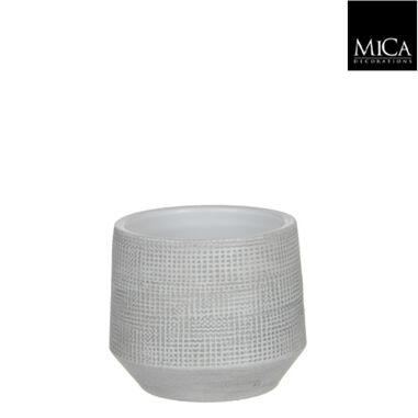 Guido pot rond off white h13xd15 cm