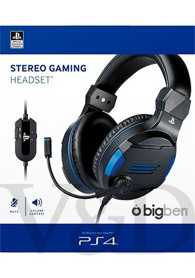 Official stereo gaming headset for PS4