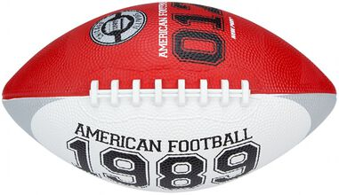 New Port American football medium rood/wit 26 cm