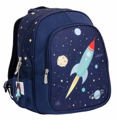 A Little Lovely Company rugzak Space junior 13 liter polyester donkerblauw