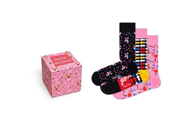 Happy Socks 3-pack Pink Panther Sock Box