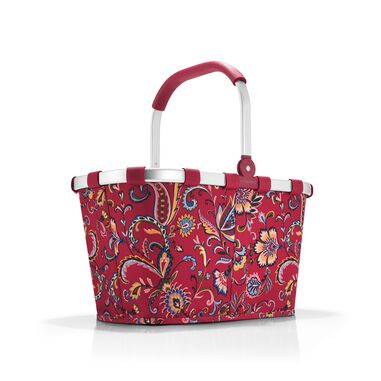 Reisenthel Carrybag Boodschappenmand - Polyester - 22L  - Paisley Ruby Rood; Mulri Kleur