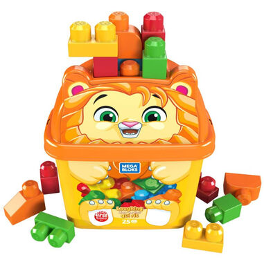 Fisher-Price bouwemmer Mega Bloks leeuw junior 26-delig