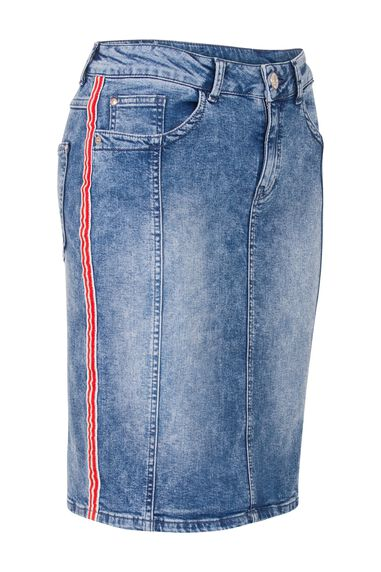 Miss Etam Dames Etam Regulier - Rok uni DENIM TAPE SKIRT