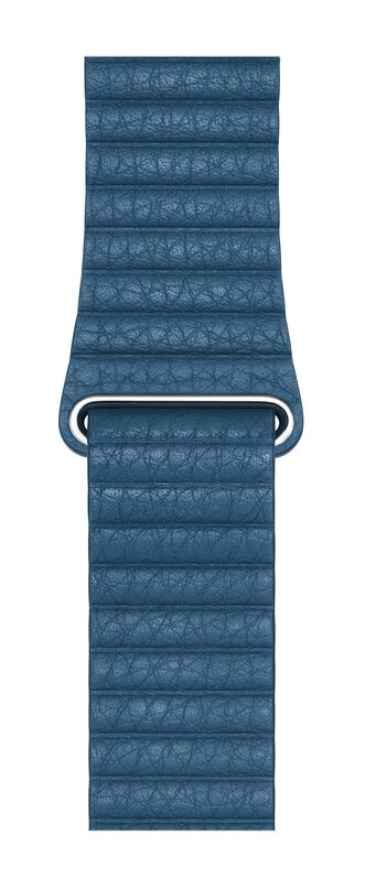 Apple MTH92ZM/A Band Blauw Leer smartwatch-accessoire