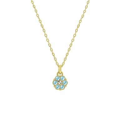 Goldplated kinderketting met kristallen